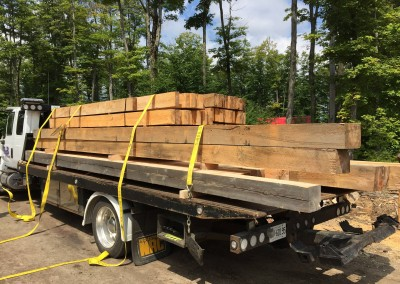 Lumber Delivery on Flatbed