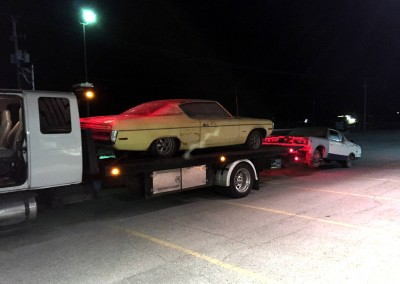 Towing Classic Cars on Flatbed