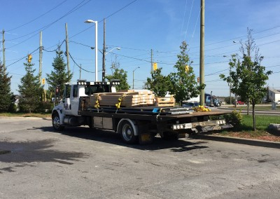 Flatbed Towiing of Equipment