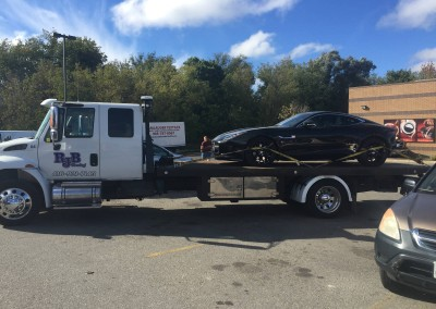 Towing Sports Cars on Flatbed