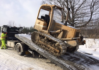 Towing Construction Equipment
