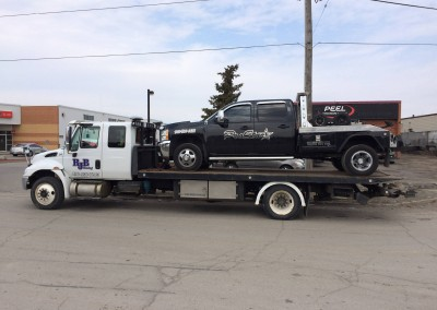 Flatbed Towing of other Tow Trucks