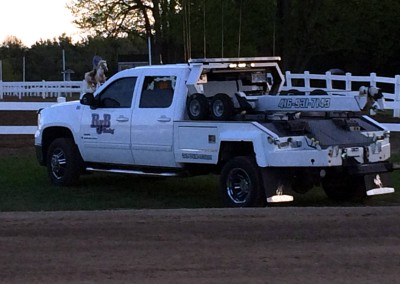 RJB Towing White Tow Truck