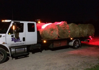 Towing Bales of Hay